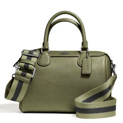NWT COACH MINI BENNETT SATCHEL IN CROSSGRAIN LEATHER WITH WEBBED STRAP F11808