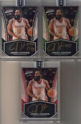 3) 2017 Panini Instant Access James Harden Auto Inscribed