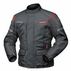 6XL Mens DriRider Summit Evo Touring Jacket Motorcycle Waterproof Black
