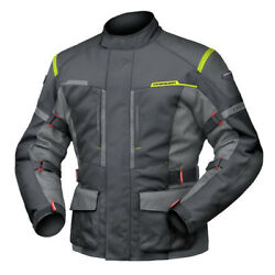 6XL Mens DriRider Summit Evo Jacket Motobike Waterproof BLACK ANTHRACITE