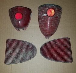 Vintage Lot Car Truck Light Lens Industrial Covers Car Red