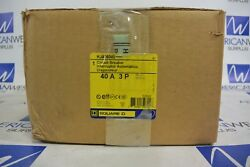 HJA36040 Square D PowerPact HJ 40 amp 600 volt 3 pole Circuit Breaker NEW IN BOX