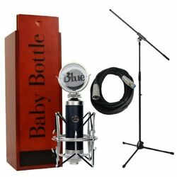 Blue Microphones Baby Bottle with Pop Filter Shockmount Mic Stand and Cable B...