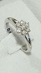 Gold Ring 18 Carats And Diamonds 050 - Super Discount Engagement - Marriage