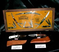 Schrade Heritage Knives Set Usa Herman Williams 156ot Lil Fingers Past And Present