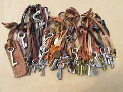 43 Fossil Replacement Strap And Key Charms Keychain Fob Hangtag Purse