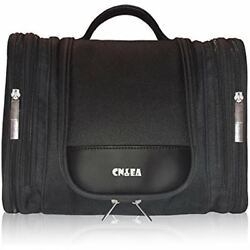 Hanging Toiletry Bag By - Travel Makeup Cosmetic For Women And Men  Large Black