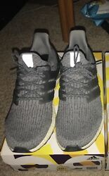 Adidas Ultra Boost Wolf Grey Size 10.5 Only Worn Twice Great Condition Og All