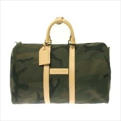 LOUIS VUITTON X SUPREME KEEPALL BANDOULIERE 45B CAMOUFLAGE M43466 Hand Bag Rare