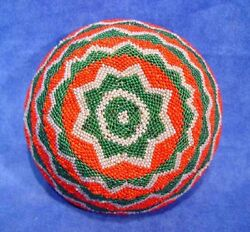 Coiled Willow Paiute Beaded Basket C.1920-1950 Nevada Ranch 5 3/4 X 2 1/2