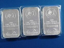 Silvertowne 5oz Silver Bars All 3 With Same Serial 208916 15oz Rare Error