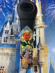 Disney Beauty And The Beast Magic Band Stained Glass Black Belle Magicband