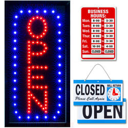 Vertical Led Neon Open Sign By Ultima Led Bundle For Business Includes 3 Signs