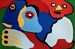 Moving In The Wind 1974 Limited Edition Silkscreen Karel Appel