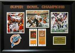 Miami Dolphins Larry Csonka And Bob Griese Super Bowl Vii And Viii Framed Picture