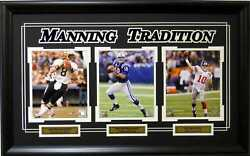 Archie Manning Peyton Manning Eli Manning Tradition Framed Collage Picture