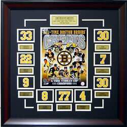 Boston Bruins Greats Composite Stanley Cup Deluxe Framed Photo Picture