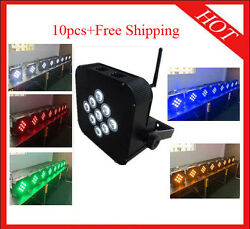 915w Rgbwa 5 In 1 Wireless Battery Led Par Light Stage Uplights 10pcs With Case