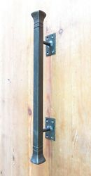 Push Pull Door Handle Hand Forged Solid 16.5 Wrought Iron Barn Entrance Entry