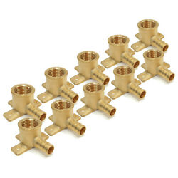 10 1/2 Pex Brass Lead Free Drop Ear Elbow Crimp Fitting Replace Nibco Px81400