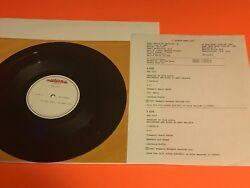 The Cult Lil Devil Us 10 Acetate One Sided With Sheet Masterdisk