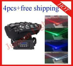 812w 4 In 1 Led Beam Moving Head Spider Light 4pcs Flight Case Free Shipping