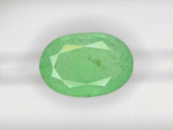 Grs Certified Ethiopia Emerald 18.08 Cts Natural Pastel Green Oval