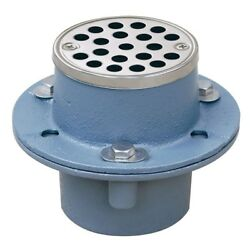 Sioux Chief 2 In. Cast-iron Shower Drain With Strainer