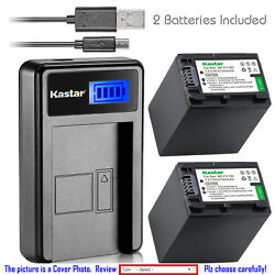 Kastar Battery Lcd Charger For Sony Np-fv100 Sony Hdr-xr155 Hdr-xr160 Hdr-xr260