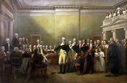 Dream-art Oil Painting General George Washington Resigning His Commission Canvas