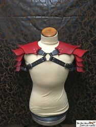 Hardened Leather Dragon Scales Double Or Single Shoulder Armor Larp Cosplay.