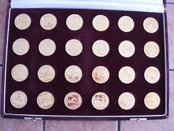 Russia - Full Set 24 Gold Olympic Medals 1980 Moscow Games By Japan Mint, Rrr
