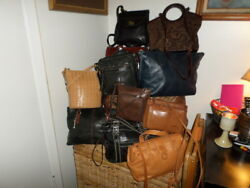 LOT OF 13 FOSSIL TOTES SATCHEL CROSSBODY BAGS