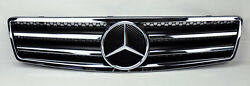 Front Black & Chrome Hood Sport Grill for Mercedes SL Class R129 W129
