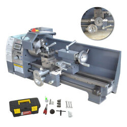 110v 8and039and039x16and039and039 750w Variable-speed Mini Metal Lathe Bench Top Digital Top Quality