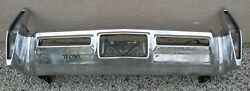 X Cadillac New Triple Plated Chrome Rear Back Bumper 1971 1972 71 72 Oem