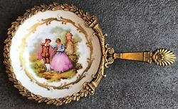 Vintage Ormalu Dish Hand-painted Made In France
