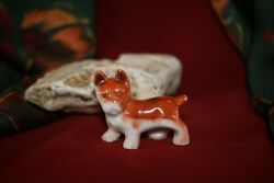 Vintage ENGLISH FRENCH BULLDOG Dog Boston Terrier Figurine Miniature 1 38