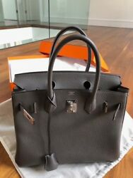 Hermes Birkin 30cm Togo Gris Etain Purchased Brand New March 2018