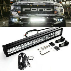 Fit Ford F150 09-14 Hidden Lower Bumper Grille 120w Led Light Bar Wiring Kits