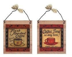 💗 Fresh Roast Coffee Pictures Kitchen Wall Hanging Decor Morning Brew Plaques