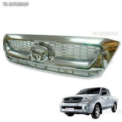 Chrome Front Grille Grill Replacement Fits Toyota Hilux Vigo Sr5 Mk6 2008-2011