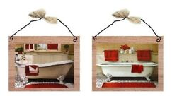 💗 Paris Style Bath Pictures Victorian Bathroom Wall Hangings Home Decor Plaques