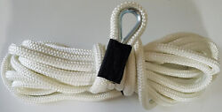 Double Braid Anchor Line 1/2 X 250and039 - White / Usa Made / Non-fading - Nice