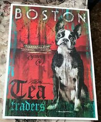 Patrick Reed O'Brien Boston Terrier Dog Lithograph Art