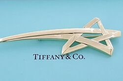And Co Paloma Picasso 18k Yellow Gold 750 Shooting Star Brooch / Pin 22.7g