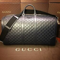 Gucci Signature Leather Duffle Bag Large Size NEW