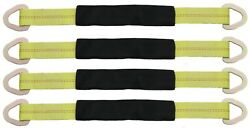 2 X 24 Axle Tow Strap With D Ring - Car Strap Tie Down 4 Pack