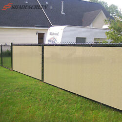 4' 5' 6' FT Beige Privacy Fence Screen Cover Mesh Garden Yard Home Commercial
