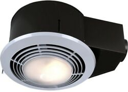 Bathroom Ceiling Exhaust Fan Light Heater OnOff Switches Steel Housing